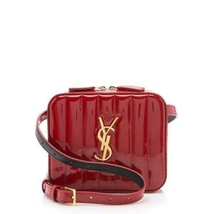Saint Laurent Red Vicky Belt Bag
